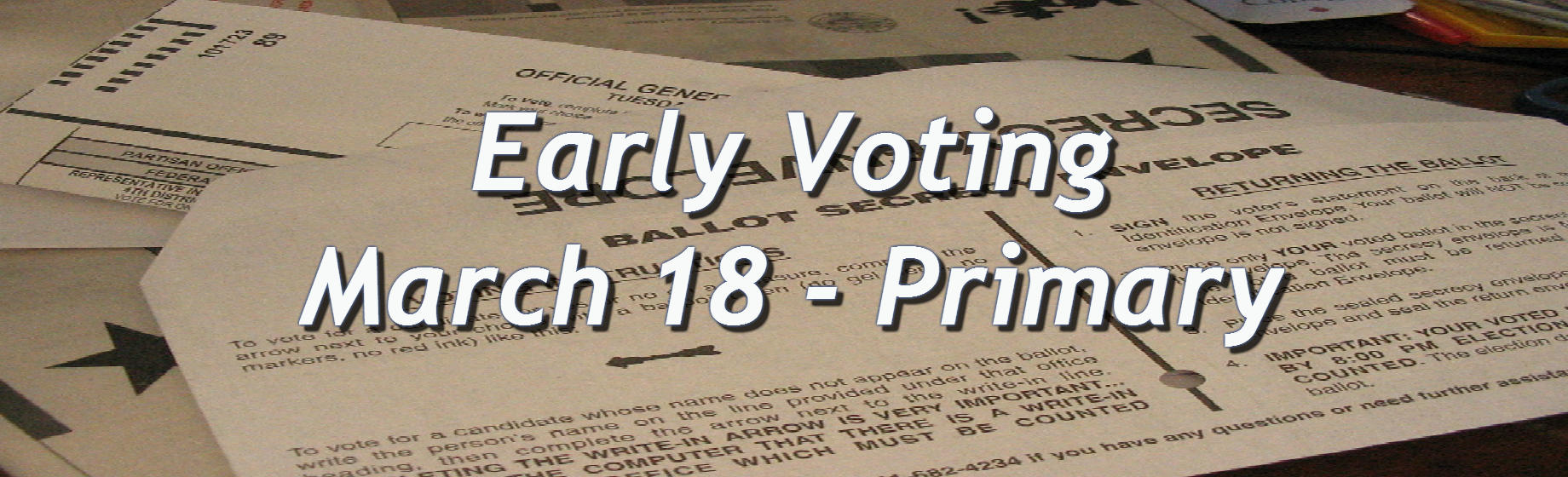early voting envelope